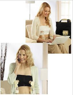 5f3a6b12594d2 Medela Easy Expression Bustier Hands Free Pumping Bra New Wh