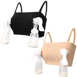 HOFISH Womens Easy Simplicity Hands-Free Breastpump Bra 2pcs