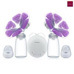 electric breast pump double breast pump hands