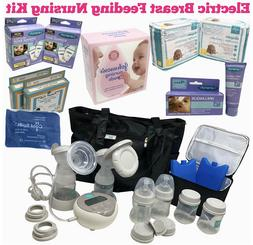 Electric Double Breast Pump w/Nursing Purse, Bags, Diapers,