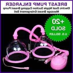 Electric Dual Nipple Suction Cupping Breast Pump Massage Bre