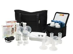 Ameda Finesse double electric breast pump system with Dottie