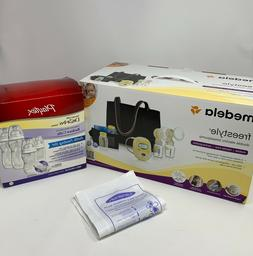 Medela-Freestyle Double Electric Breast Pump Deluxe + Playte