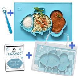 Cool Panda Fun Silicone Feeding Placemat Set for Kids & Tood