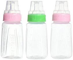 NUK Gerber 3 Piece First Essentials Clear View Bottle, Girl,
