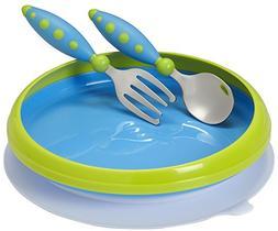 Gerber Graduates Lil' Trainer Tableware 3-Piece Set, Blue