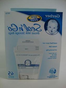 Gerber NUK Seal N Go Breast Milk Storage Bags - 45 Count