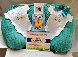 Twin Gift Set - Waterproof Twin Z Pillow + 1 Teal Cover + Tr