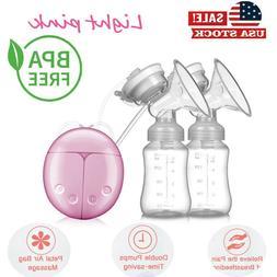 Hospital Grade Double Electric Breast Pump & 2 Milk Bottle F
