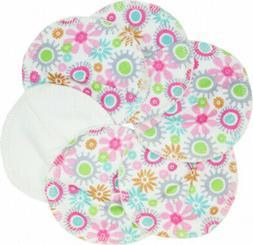 Imse Vimse Nursing Pads Organic Cotton with Floral Design .