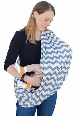 Nursing Scarf Covers Breastfeeding Baby in Public Soft Breat
