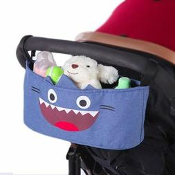 Kid Baby Stroller Organizer Storage Bag Large Space Hooks Ha