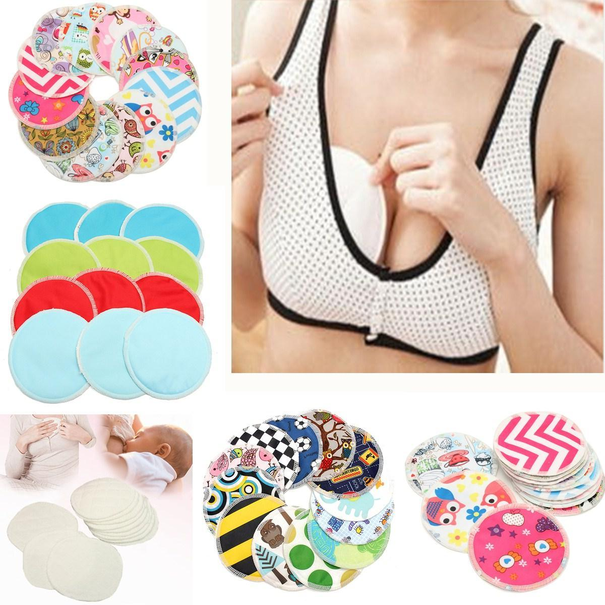 12pcs set absorbent bamboo nursing pads