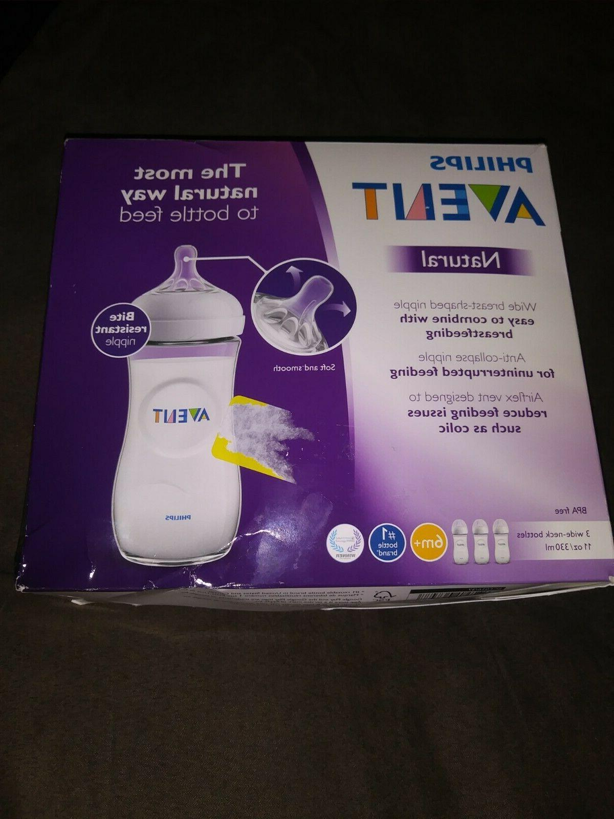 6 NIB Philips Avent NATURAL  Bottles 3 Oz AND Naturals Starter kit+EXTRAS