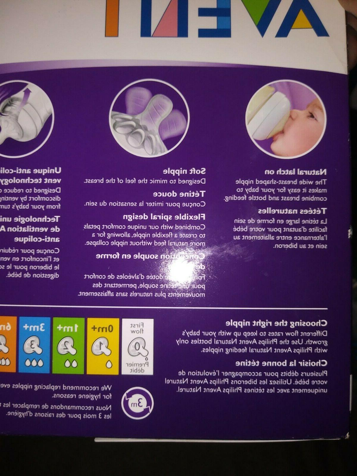 6 NIB Philips Avent NATURAL  Bottles Oz AND kit+EXTRAS