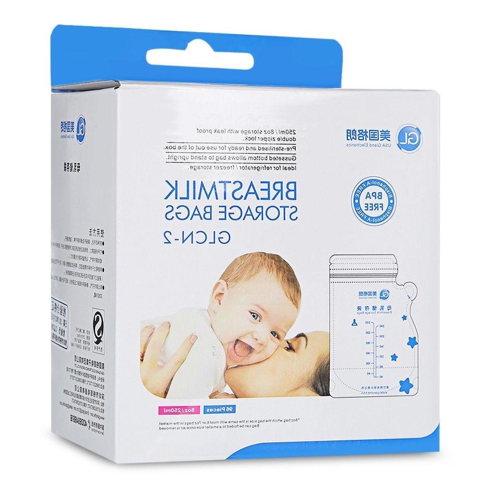 96pcs Baby Breast Milk Food Storage 250ml BAP Free Disposable Bag-NEW