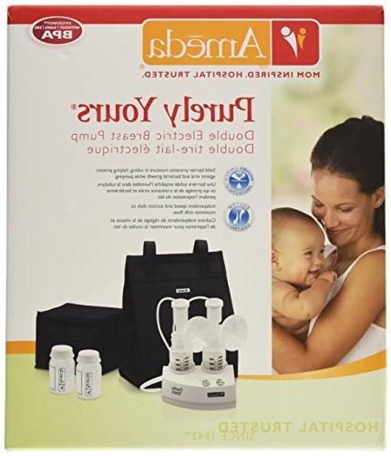 Ameda Purely Double Electric Breast Includes: Pump, HygieniKit Cool'N Milk AC Power Storage