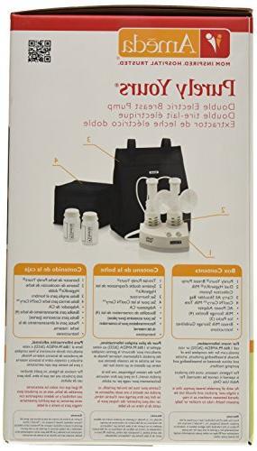 Ameda Purely Yours Electric Breast Pump Includes: Breast Pump, HygieniKit Shoulder Cool'N AC Power Storage Bottles, Packs