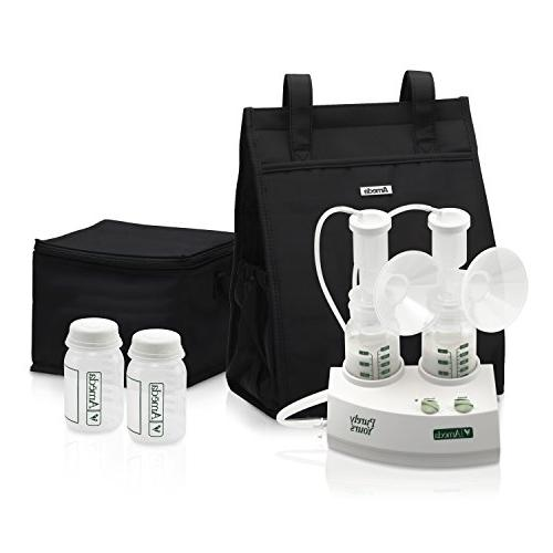 Ameda Purely Electric Breast Pump White, Includes: HygieniKit Cool'N Tote, AC Storage