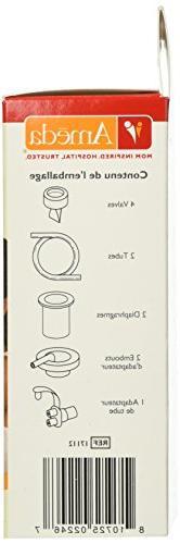 Ameda Parts Kit for Pump Valves, Diaphragms, Adapter Adapter, Breast DEHP