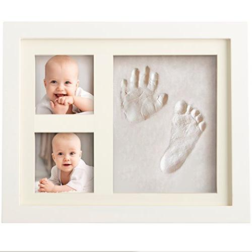 Bubzi Co Baby Handprint Kit & Footprint Photo Frame for Newb