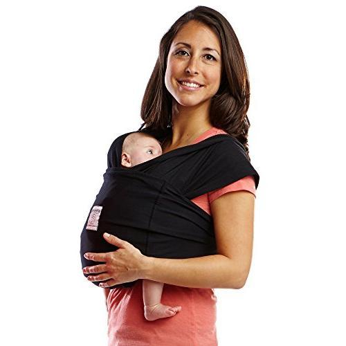 Baby K'tan ORIGINAL Baby Carrier, Black Stretch Cotton