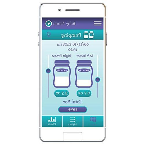Lansinoh Breast Pump, Lansinoh App Bluetooth, Breast Pump Compatible Adjustable & for Mom's
