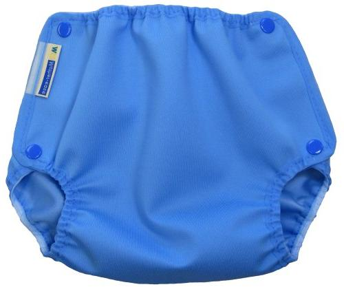 Mother-Ease One-Size Cloth Diaper Cover , Blue Raindrop)