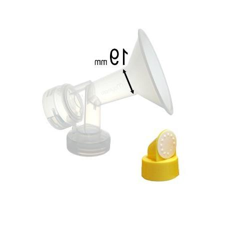 Two 21-mm Maymom Breastshields w// Valve and Membrane for Medela Breast Pump