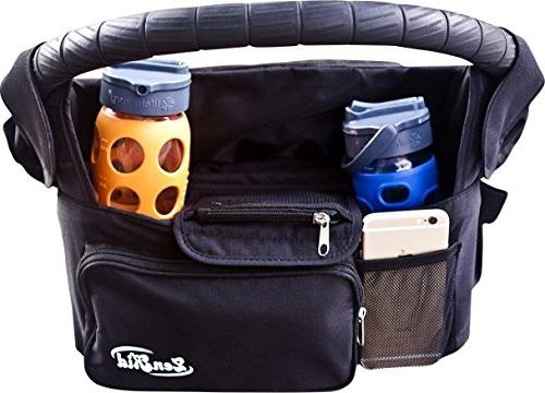 Stroller Organizer Accessory With Insulated Cup Holders, Tra