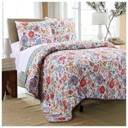 Greenland Astoria White Quilt Set, 3-Piece King