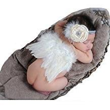 Fanamskl Baby Girl Headband With Angel Feather Wing Costume