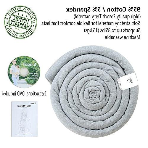 Innoo Baby Carrier Baby Wrap Suitable Newborns 35 Breastfeeding Baby Soft and Comfortable Gray