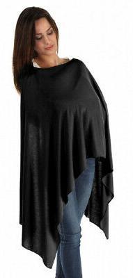 BambooMama Bamboo Breastfeeding Scarf - Black - Discreet Nur