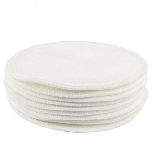Bamboo Reusable Breast Pads Nursing Breastfeeding Plain Washable Pack of 10 20