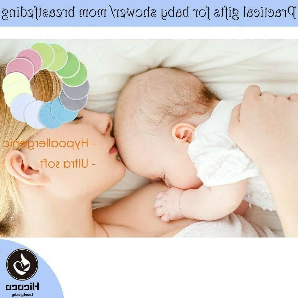 Bamboo Reusable Nursing Pads Washable Pads of 14