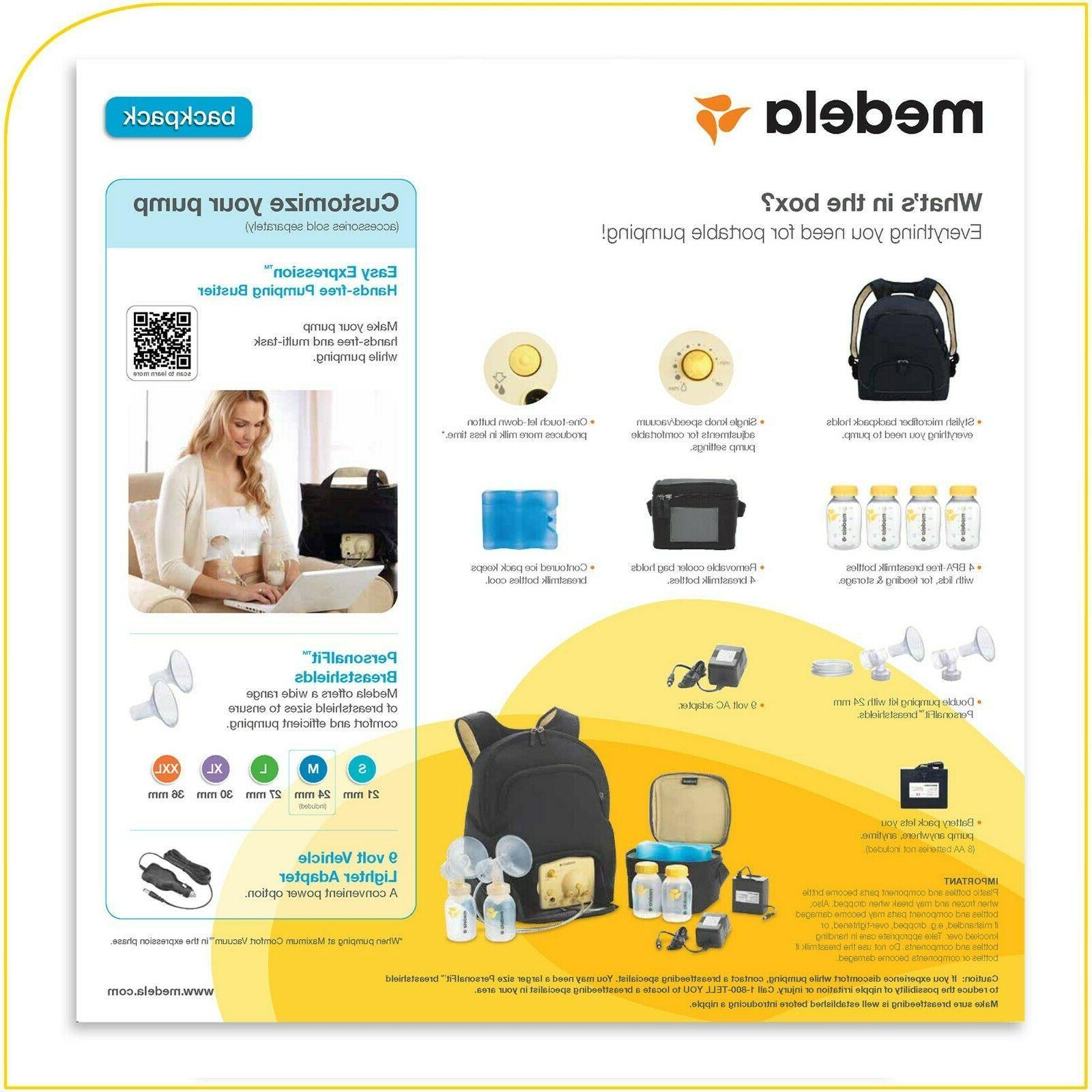 Brand Medela Double Breast Pump Kit, Backpack