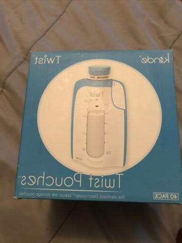 breast milk storage twist pouch