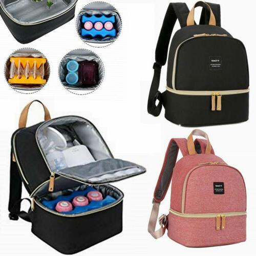 breast pump backpack milk bottle cooler bag
