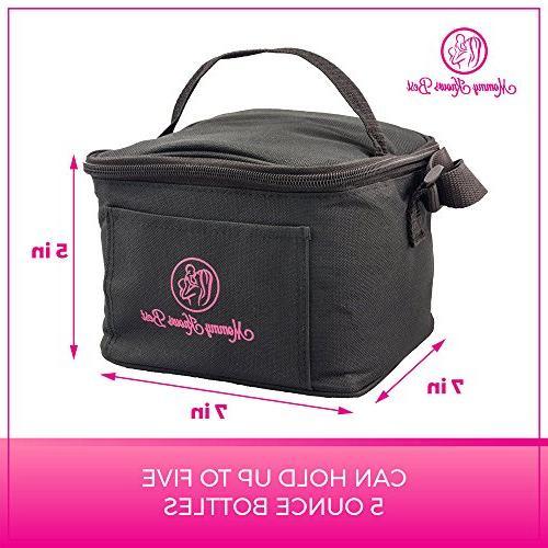 Breastfeeding Bundle Gift Set Kit for - Bamboo Nursing Pads, Manual Organic Nipple Cream, Milk Bag