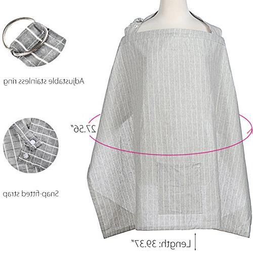 Breastfeeding Breathable Canopy Apron in Burp Cloth