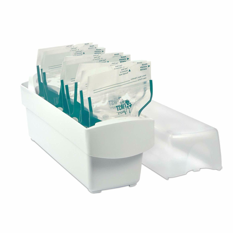 breastflow milk storage organizer can hold bag