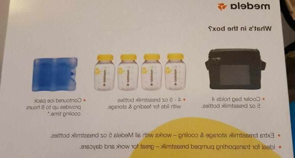 Medela Breastmilk Cooler 4- 5oz/150ml Bottles,Lids,