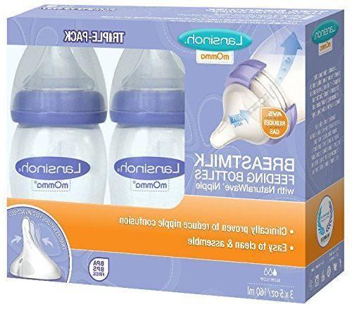 Lansinoh Breastmilk with Nipple, of 3 Bottles,