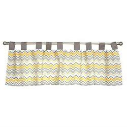 Trend Lab Buttercup Zigzag Window Valance - 56 L x 15 W