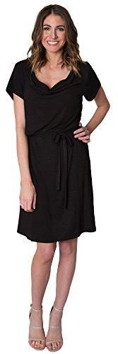 Women's Udderly Hot Mama 'Chic' Cowl Neck Nursing Dress, Siz