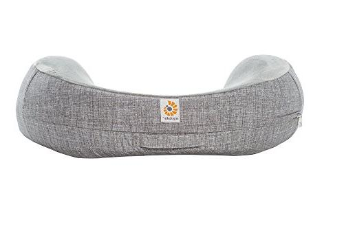 ERGObaby Natural Curve Nursing Pillow Plus Cover, Heathered