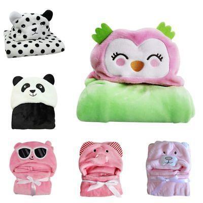 Cute-Boy-Girl-Animal-Flannel-Bathrobe-Baby-Hooded-Bath-Towel-Blanket-Bathrobe US