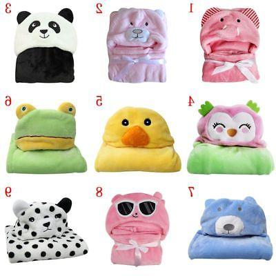 Cute-Boy-Girl-Animal-Flannel-Bathrobe-Baby-Hooded-Bath-Towel-Blanket-Bathrobe