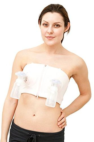 Simple Wishes D*LITE Hands Free Breastpump Bra L-PLUS